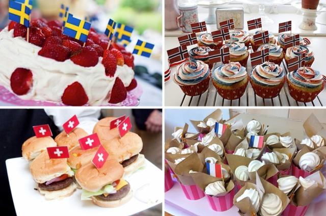 Flag cakes
